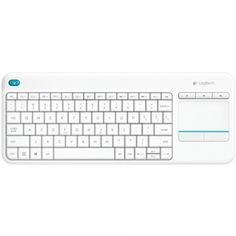 Logitech Plus Tastiera Wireless con Touchpad per Windows, Android, Chrome e Smart TV, Layout Italiano QWERTY, Bianco Logitech, Windows 10, Teclado Qwerty, Computer Accessories, Computer Keyboard, Usb, Touch, Stuff To Buy, Android Windows