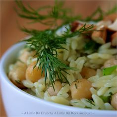 Orzo with Chickpeas, Lemon, and Dill recipe from A Little Bit Crunchy A Little Bit Rock and Roll
