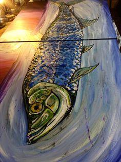 "Way cool, 8' long, ""the Tarpon"", in Georgetown, SC. Witzel Art."
