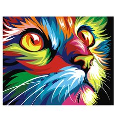 Painting Supplies 1 Set Home Decor Paint By Number Oil Painting Diy Kit Rainbow Cat No Frame Gift & Garden Simple Oil Painting, Oil Painting On Canvas, Diy Painting, Canvas Art, Diy Canvas, Canvas Frame, Acrylic Canvas, Painting Classes, Painting Flowers