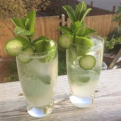 """Mint-Cucumber Mojitos I """"""""This refreshing version of mint mojitos features a springtime kick of cucumber. We love these at special gatherings and summer barbecues. A pitcher of this can be made a few hours in advance--just add alcohol at serving time."""""""