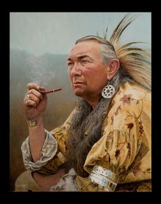 Native Americans Indians by Steve White, Frontier Artist ~ Peace in My Heart Native American Pictures, Native American Artists, American Indians, American Symbols, Native Indian, Native Art, Steve White, Woodland Indians, American Frontier