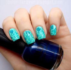 BornPrettyStore BPL-024 plate double stamping nail art