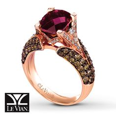 Levian Rhodolite Garnet Ring    Check on conflict free status policy of company
