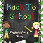 This is a Back To School Pack full of forms to start your year!  Get ready for Open House! I've included all of the forms I personally use and love. Organization is so important! $