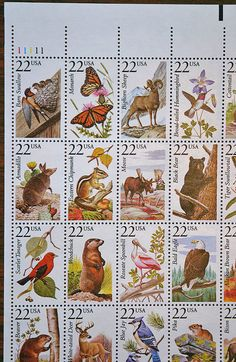 United States Postal Stamps North American Wildlife 50 Stamps Mint NH