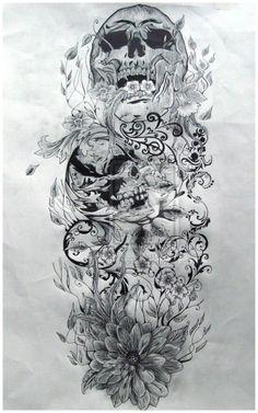 Popular Tattoo Design | skull sleeve tattoo designs