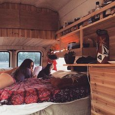 Wow! Check out this super sexy #vandweller @estelle_lea_philippine and the inside of her van! And she is an amazing artist too! There's a link in her bio to her etsy shop. She's got some really great pieces available. #vancrush #vanlife #vanlifediaries #campervan #homeiswhereyouparkit