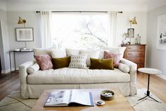 One Room Challenge REVEAL! :: Our Living Room Makeover - coco kelley coco kelley Sconces Living Room, Living Room Lighting, Living Room Decor, Living Room Designs, Living Spaces, Living Rooms, Small Living, Winter Living Room, Up House