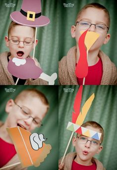 Photo booth props for Thanksgiving #thanksgiving, #photobooth