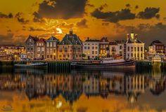 Reflections of Maassluis, The Netherlands  Photo by : Herman van den Berge