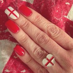 St George's Day Nails