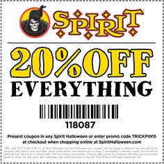 Spirit halloween discount coupon