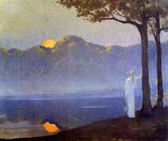 """""""La muse au lever du soleil"""" (The muse at sunrise) By Alphonse Osbert 1857 - 1939"""