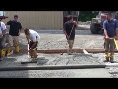 Concrete Spin Screed used by amateurs for their first pour. - YouTube