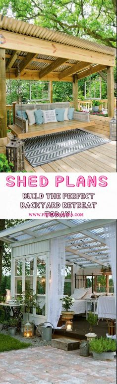 Shed Plans - I want a shed!!! Backyard Sheds - Now You Can Build ANY Shed In A Weekend Even If You've Zero Woodworking Experience!
