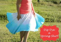 Spring Skirt Dip Dye on I Heart Nap Time
