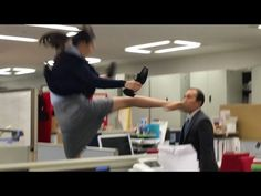 """""""Hyper Kick Lady"""" Has Had Enough BS For One Day, Goes On Kicking Rampage. Can you guess what this ad is selling? No?. - http://ibeebz.com"""