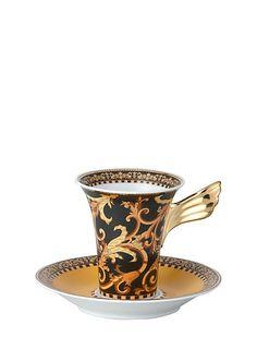 Barocco Cup & saucer 4 tall