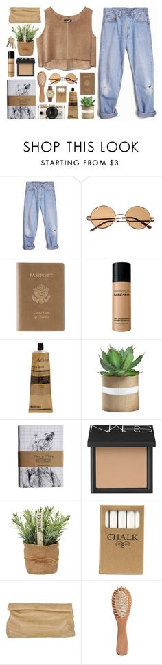 """Natural Elements"" by fashionispurebliss ❤ liked on Polyvore featuring Levi's, Urban Outfitters, Royce Leather, Bare Escentuals, Aesop, NARS Cosmetics, Jayson Home, Marie Turnor, The Unbranded Brand and Void"