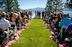 South Lake Tahoe at Edgewood Golf Course. Ceremony by Lake Tahoe beachside.  Photography by Monique **click on link to see gallery.