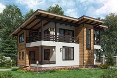 Tropical House Design, Small House Design, Tropical Houses, Creative Architecture, Contemporary Architecture, Casas Country, Facade House, House Floor Plans, Tiny House