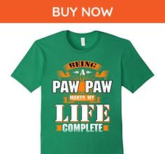 Mens Funny family shirt Being a paw paw makes my life complete XL Kelly Green - Relatives and family shirts (*Amazon Partner-Link)