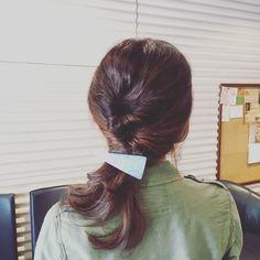 upstyle mediumhair medium hairstyle hairarrange  permanent spring  haiセミロング イメチェン ヘアアレンジ