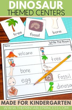 Dinosaur Themed Activities that are hands-on, interactive, engaging and perfect for Kindergarten!