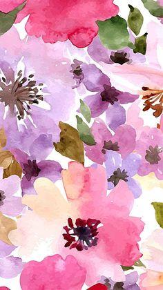 Floral Print Wallpaper, Flower Background Wallpaper, Flower Phone Wallpaper, Cute Wallpaper Backgrounds, Cellphone Wallpaper, Flower Backgrounds, Pretty Wallpapers, Colorful Wallpaper, Iphone Wallpaper