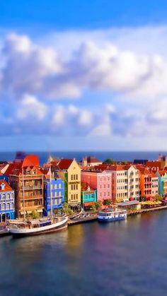Colorful Venice Port iPhone 6 Plus HD Wallpaper