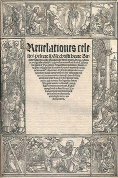 Brigitta. Reuelationes celestes... (Ed. III). Nbg.,  (Fr. Peypus,  impensis J. Koberger) 1517. Fol. Tit. mit figürl. Bordüre in Holzschn.,  2 ganzs. Wappentaf. im Text sowie Holzschn.-Initialen. CLXXXII Bl.,  52 nn. Bl. Ldr. d. Zt. über Holzdeckeln mit 1 (von 4) Metallschließen,  Blindpräg. und Rsch. (Rckn. erneuert unter Verwendung des urspr. Materials,  berieb.,  Wurmsp.). ,  Collijn I:257-260,  Klemming 3. 3. lat. Ausgabe. - Provenienz: Aus der Bibl. von Ove Hassler (1904-87),  Dean in…