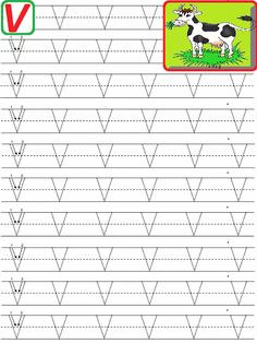 Alphabet Tracing Worksheets, Printable Preschool Worksheets, Alphabet Writing, Handwriting Worksheets, Alphabet Worksheets, Learning Letters, Alphabet Activities, Preschool Learning, Kindergarten Worksheets