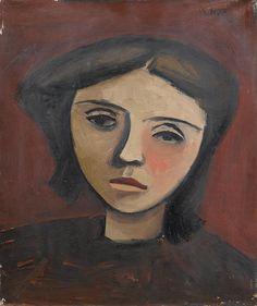 William Scott – Head of a Girl, 1946, Oil on canvas, 30.5x25.5 cm