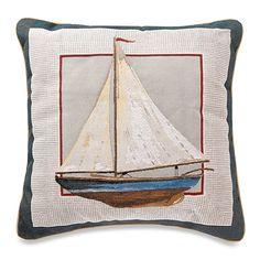 Sailboat Square Throw Pillow