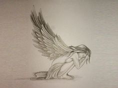 Sad angel tattoo Wallpaper