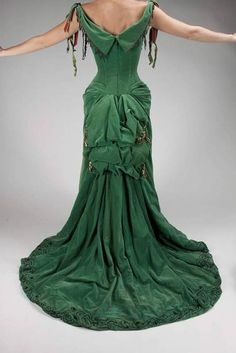 The back of the green dress.