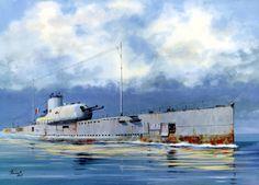 French Submarine Surcouf 1940