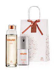 Presente Natura Kaiak Feminino - Desodorante Colônia + Deo Corporal + Embalagem