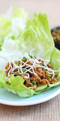 Lettuce wraps (PF Chang's Copycat) – easy lettuce wraps recipe that is better than PF Chang's. So good, healthy and budget-friendly | rasamalaysia.com