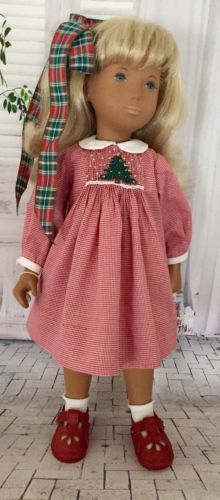034-O-Christmas-Tree-034-Smocked-Christmas-Bishop-Dress-w-Pants-for-Sasha-Doll