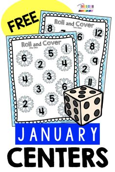 FREE January Centers for kindergarten and first grade - math and reading