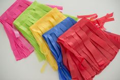 Tissue paper party decorations tutorial