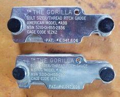 Gorilla bolt sizer thread pitch gage m98 metric