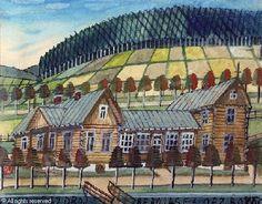 Krynicki Nikifor (Poland, 1895 - 1968) Grandma Moses, Henri Rousseau, Naive Art, Outsider Art, Artemis, Caricature, Painters, Poland, The Outsiders