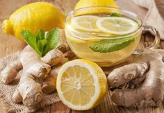 How to Make Cleansing Ginger Lemon Tea With Many Health Benefits. Detox Ginger Lemon Tea (makes 4 cups – 1 L) 2 inches cm) ginger root 4 cups L) filtered water 2 tbsp ml) organic lemon juice tsp ml) whole stevia leaf or honey Ginger Lemon Tea, Ginger Juice, Green Tea Lemonade, Weight Loss Herbs, Ayurvedic Herbs, Fat Burning Detox Drinks, Health Tips, Health Benefits, Healthy