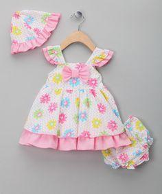 Light Big Pink Flower Lined Dress & Hat – Infant & Toddler Fashion Kids, Little Girl Fashion, Little Girl Dresses, Girls Dresses, Cute Outfits For Kids, Girly Outfits, Mom Dress, Baby Dress, Sewing For Kids