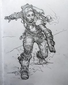 Just finished this space girl sketch by karlkopinski – Art Drawing Tips Sketch Manga, Girl Drawing Sketches, Girl Sketch, Drawing Poses, Art Drawings, Drawing Tips, Comic Books Art, Comic Art, Book Art