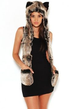 and yes I want to dress like an animal too.....just like the kiddos. This looks super cozy to me:)