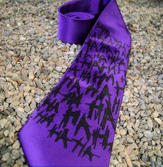 Purple Joker Ha Ha Ha Geeky Cosplay Mens Tie by mtcoffinz on Etsy